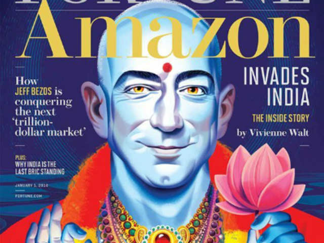 Fortune Magazine issued an apology after it faced flak for depicting Amazon founder and CEO Jeff Bezos as Lord Vishnu in its January 2016 international edition.