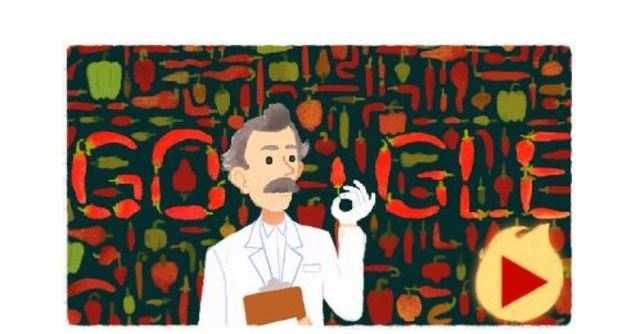Google doodle for Wilbur Scoville.