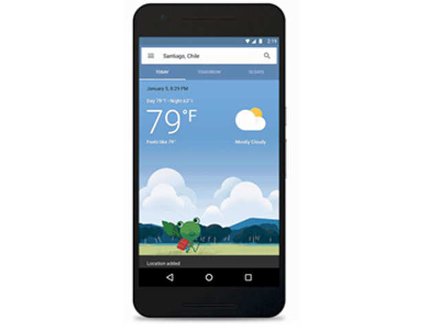 Google rolls out colourful weather cards.