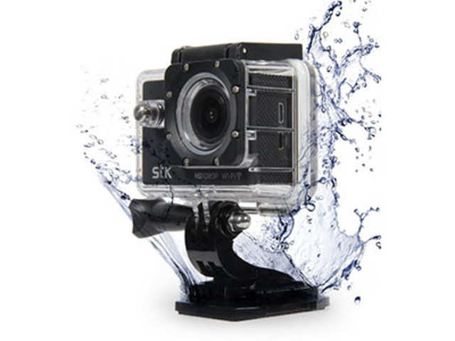 STK Explorer is capable of recording Full HD videos, and it comes with a waterproof case to be used under water.