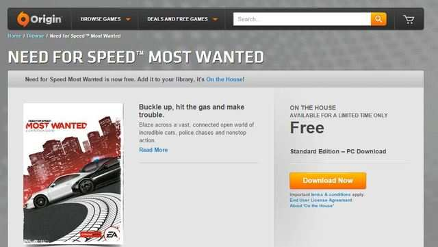Need For Speed Most Wanted Available As Free Download Gaming