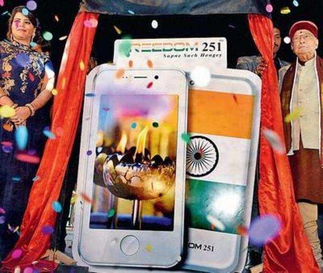 Freedom 251 smartphone launch.