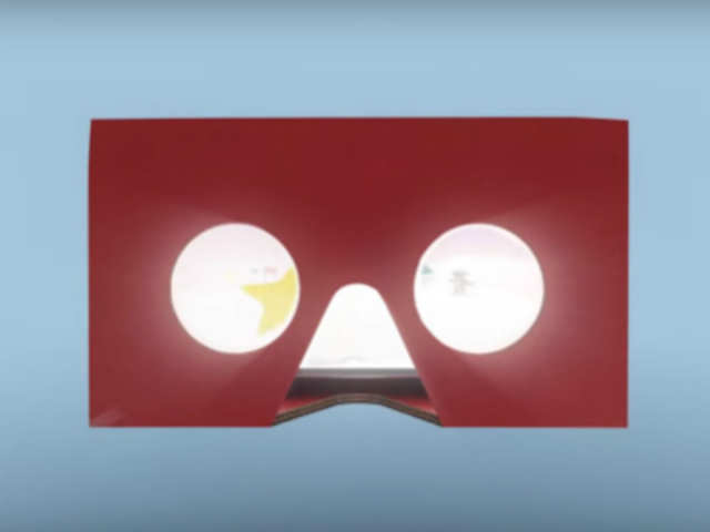 McDonald's VR headset, called Happy Goggles, will be made of the Happy Meals box itself by cutting and folding it on the dotted line.
