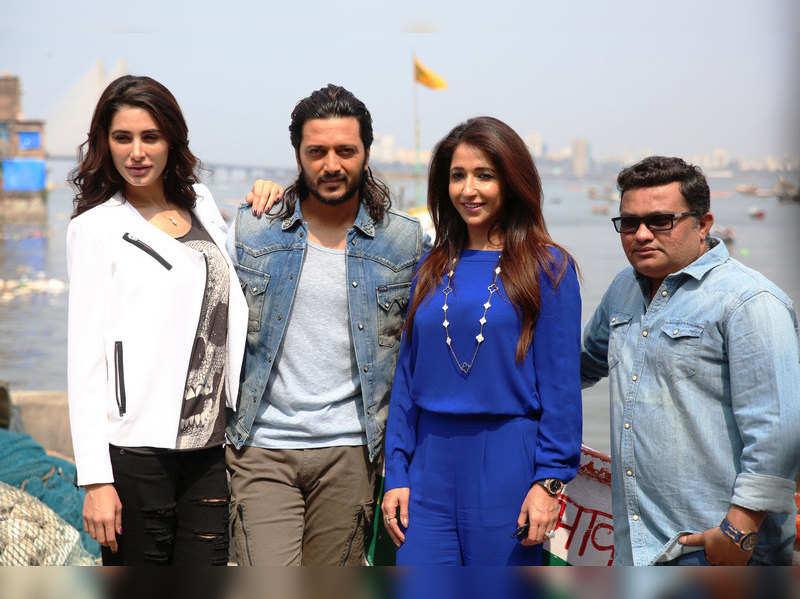 Genelia D'Souza surprised Riteish Deshmukh and Krishika Lulla on the sets of 'Banjo'