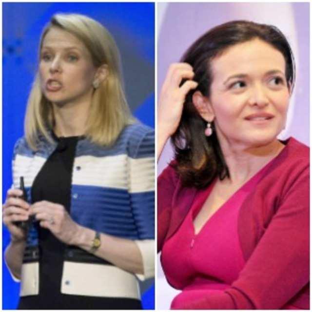 Marissa Mayer (Left), Sheryl Sandberg (Right)