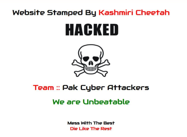 Pak hacker defaces Raipur AIIMS site, says all Indian government sites on target