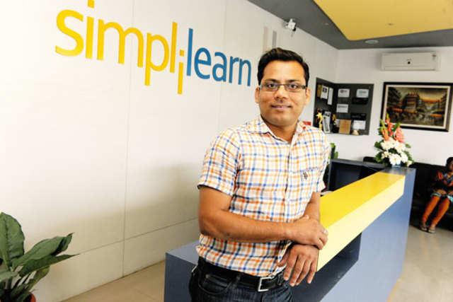 Krishna Kumar, founder and CEO of Simplilearn, in Bengaluru. (TOI Photo by N Narasimha Murthy)