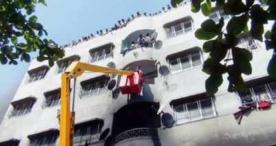 Miraculous escape for 250 people in Bhiwandi building blaze