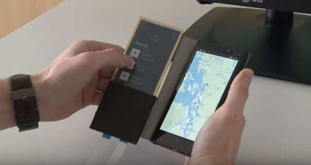 The cover can be used as an extended visual clipboard that makes searching and typing easier.