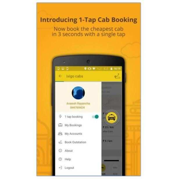 Ixigo app lets you book a cab even without internet connection