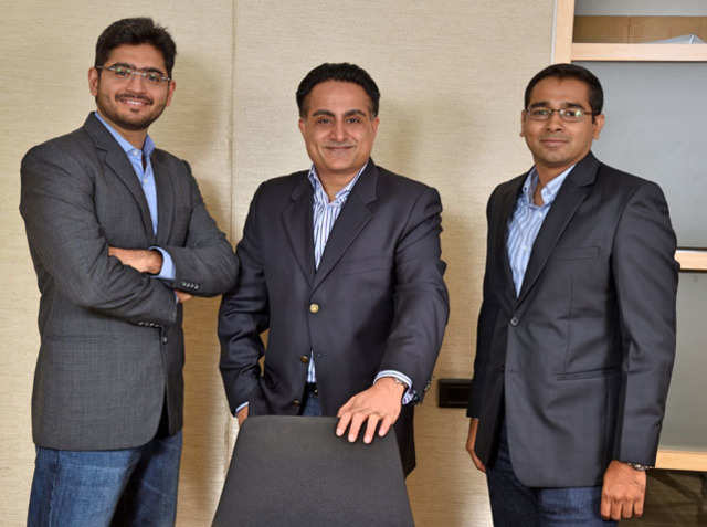 From left to right Matrix Partners MD's Tarun Davda, Avnish Bajaj & Vikram Vaidyanathan.