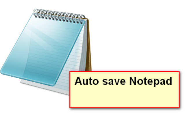 does notepad autosave