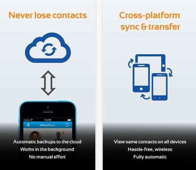 The app helps users solve contacts related problems such as backup, and sync