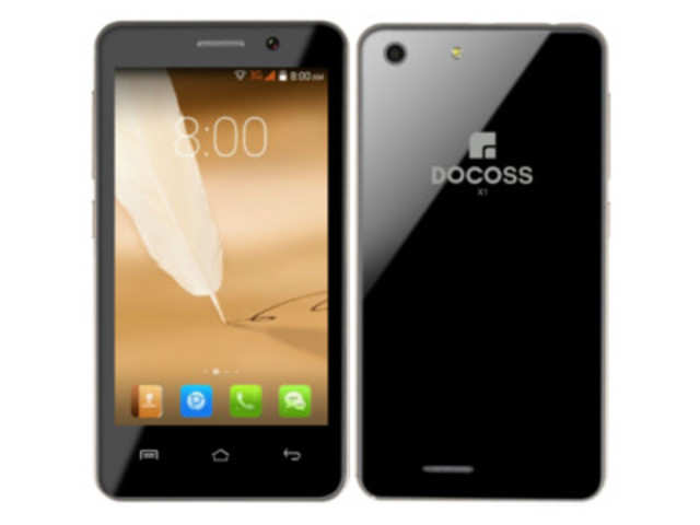 The Docoss X1 smartphone promises a 4-inch screen, 1.2GHz dual-core Cortex A7 processor with 1GB and 4GB of internal storage which can be expanded up to 32GB.
