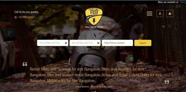 First bike rental app gets way in Bengaluru