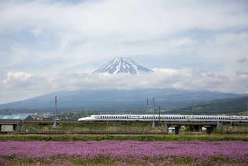 Bullet train (shinkansen) ride from Tokyo