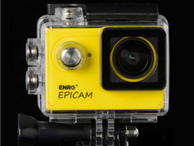 ENRG Epicam features a 12-megapixel camera with 170 wide angle and comes with a head mount to shoot videos while driving or cycling.