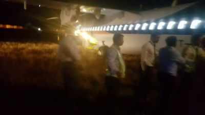 Jet Airways flight skids off tarmac at Indore, passengers