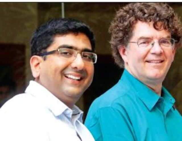 MAKING AN IMPACT: Srikrishna Ramamoorthy (left) and Will Poole