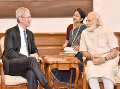 Apple CEO Tim Cook, PM Narendra Modi discuss 'Make in India' plans