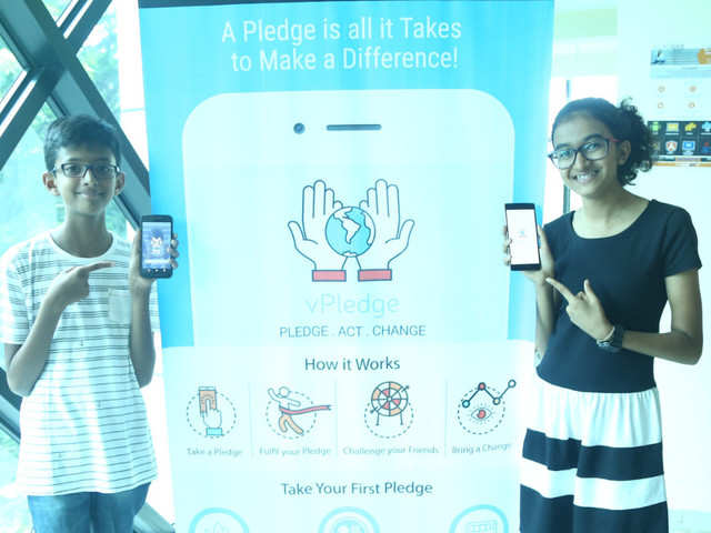 Indian school kids' Android app lets you pledge for social
