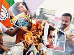 Political parties protest against Salman