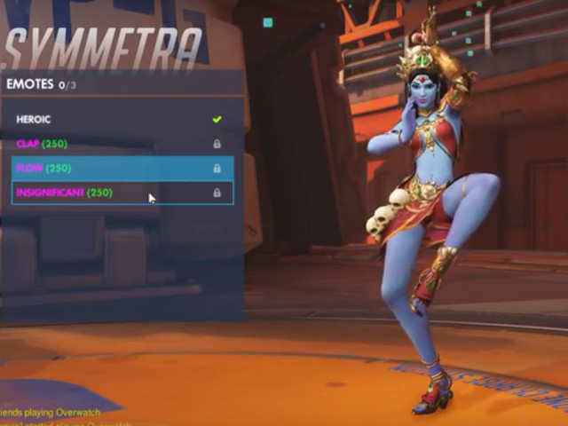 The Devi skin in the game transforms Symmetra into a character with close resemblance to Hindu Goddess Kali.
