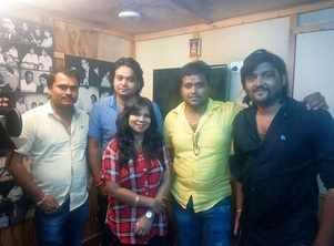 Indu Sonali records the songs for 'Jung Siyasat ki'