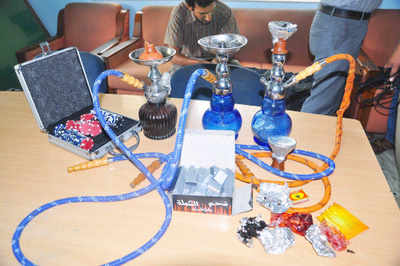 Hookahs Seized From Cafe Terraza Indore News Times Of India