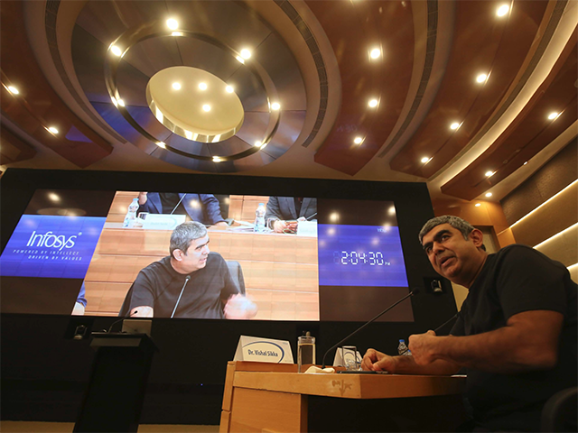 Since Sikka joined Infosys in August 2014, Infosys has witnessed at least six top-level departures. Other prominent exits include that of former CFO Rajiv Bansal, company veterans such as Sanjay Jalona and former EdgeVerve head Reh.  (Image courtesy: EPA)