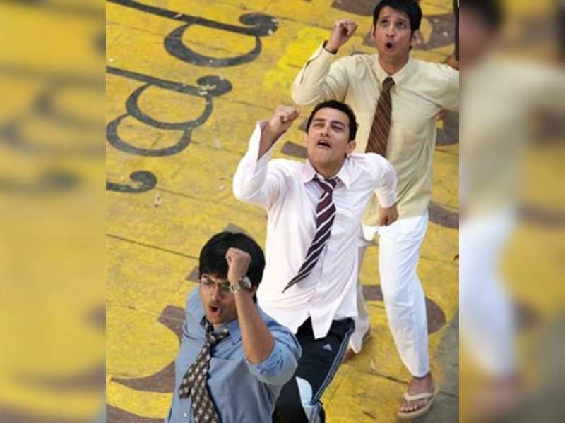 """R. Madhavan, Aamir Khan, Sharman Joshi in a still from the movie '3 Idiots'. <a href=""""http://photogallery.indiatimes.com/articleshow/5210606.cms"""" target=""""_blank"""">Check more pics</a>"""