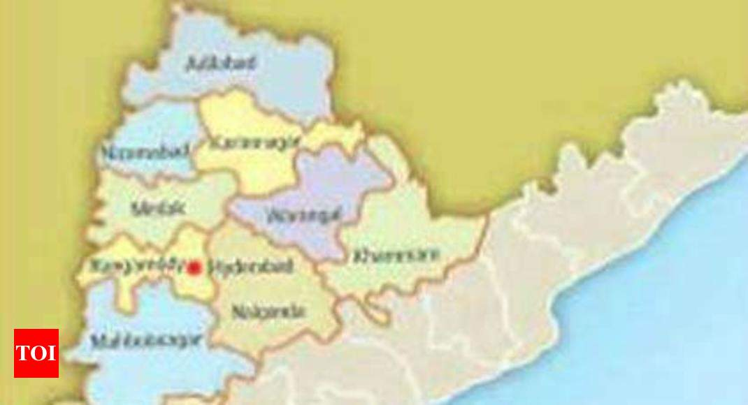 Where Is Hyderabad Located In India Map.Telangana Uploads New Districts Maps Hyderabad News Times Of India