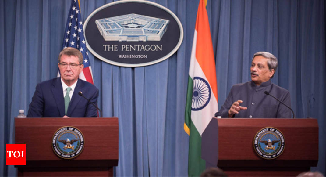 Us India Sign Military Logistics Agreement India News Times Of