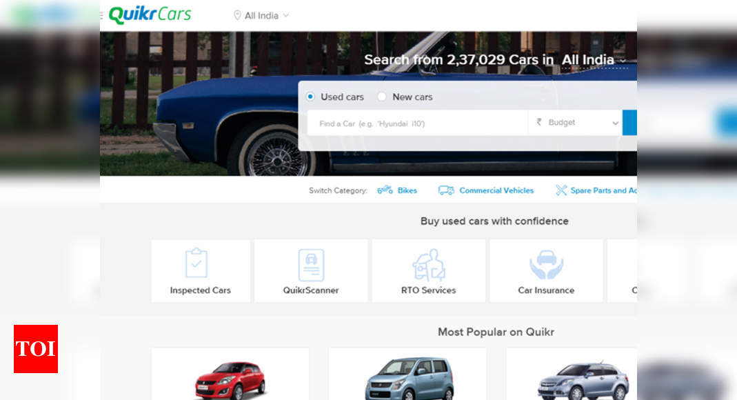 Quikrcars Acquires Stepni Introduces Vehicle Maintenance Services Times Of India