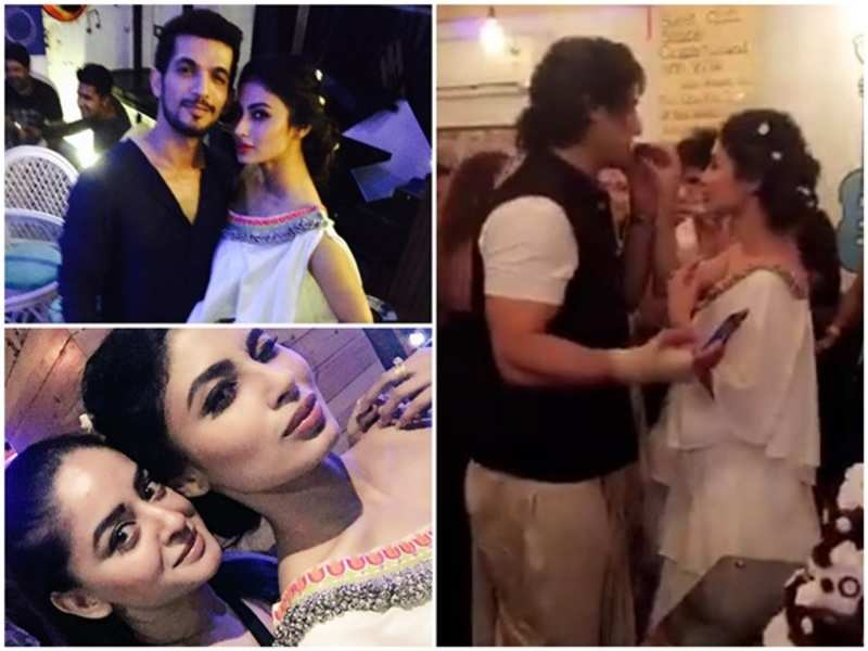 WATCH: Mouni Roy celebrates birthday with boyfriend Mohit Raina and Naagin co-actors
