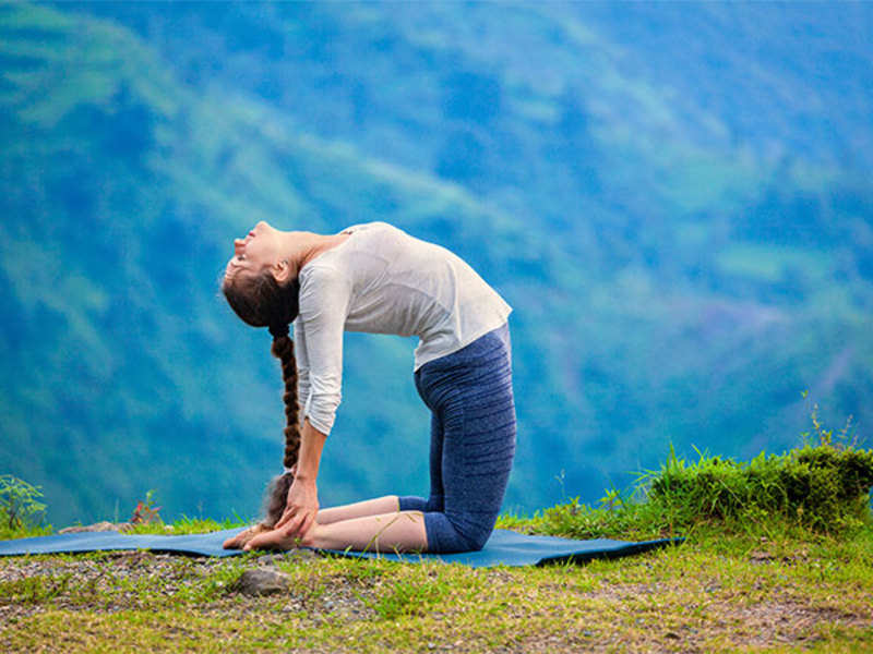 Ustrasana stretches your torso, abdomen, chest and groin, opens up your shoulders and improves back muscles (Thinkstock)
