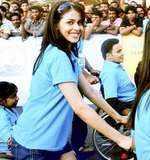 Genelia at Mumbai Marathon '10
