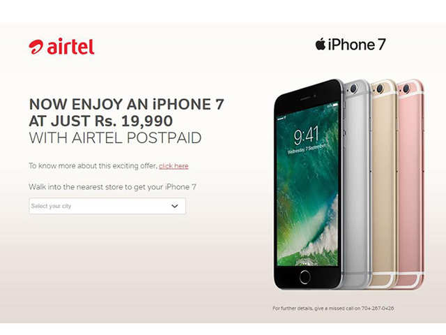 'Own' Apple iPhone 7 at Rs 19,990, courtesy Airtel