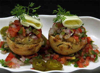 A mexican twist to the regular litti chokha