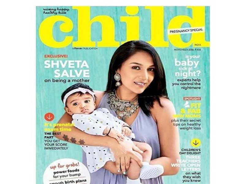 Shveta Salve and her little munchkin Arya look adorable together on the  cover of a magazine - Times of India