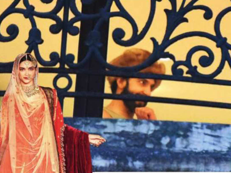 A shoulder length wig for Ranveer 'Khilji' Singh