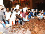 Chennaiyin FC players attend cake-mixing event