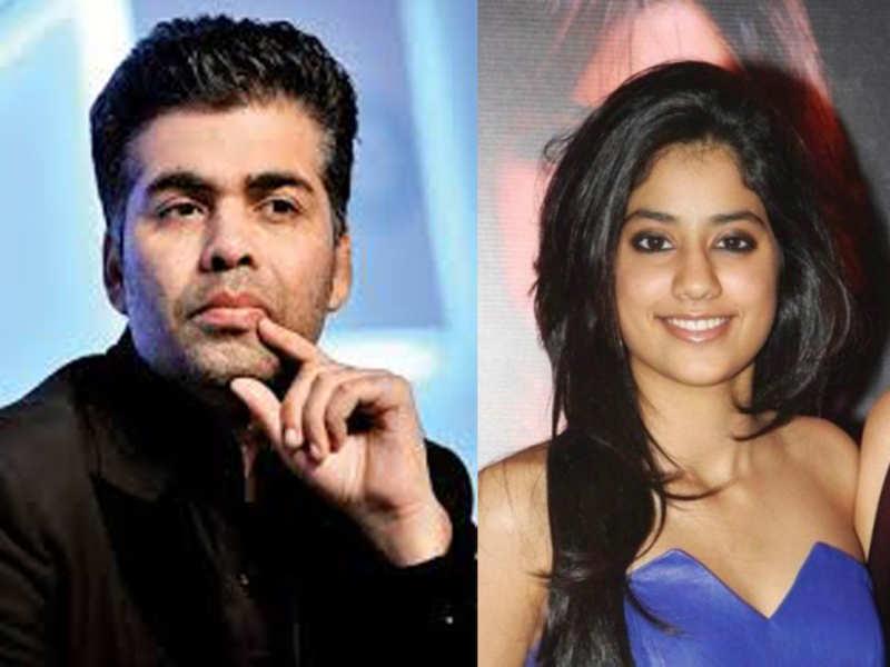 Karan Johar and Jhanvi Kapoor