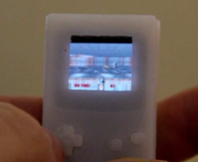 The 'mini-Game Boy' can run games such as Doom and other first-person shooters.