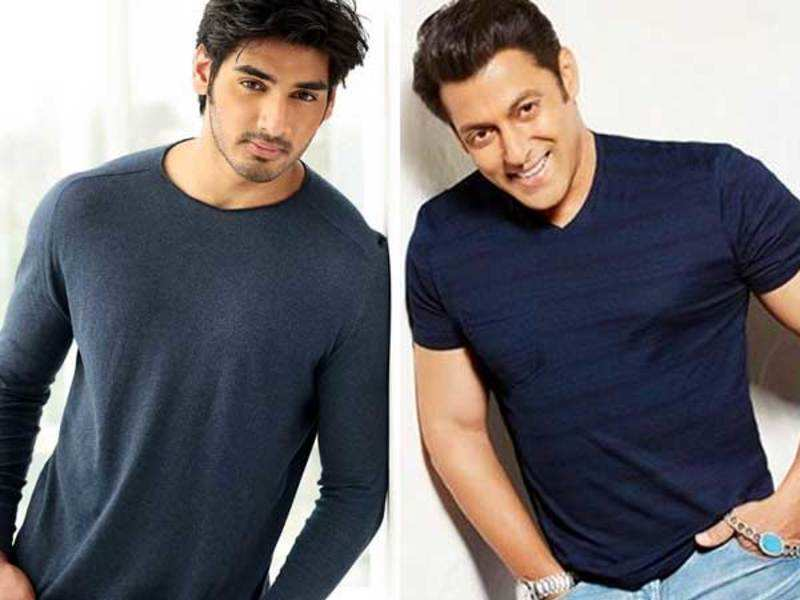 Ahan Shetty and Salman Khan