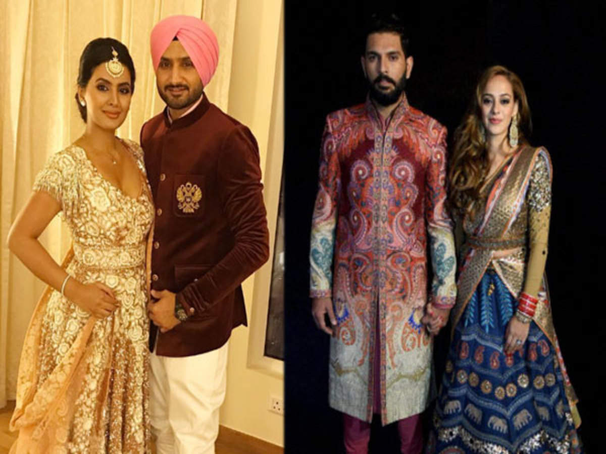 Pics: Virender Sehwag, Harbhajan Singh at Yuvraj Singh-Hazel Keech's wedding  reception   Hindi Movie News - Times of India