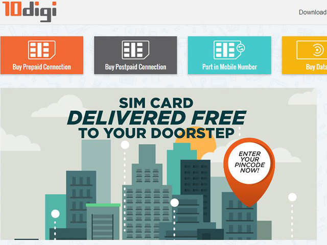 10digi to deliver SIM cards free of cost at doorstep
