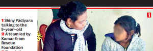 9-YR-OLD AMONG 67 GIRLS RESCUED