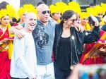 Deepika welcomes co-star Vin Diesel with band-baaja