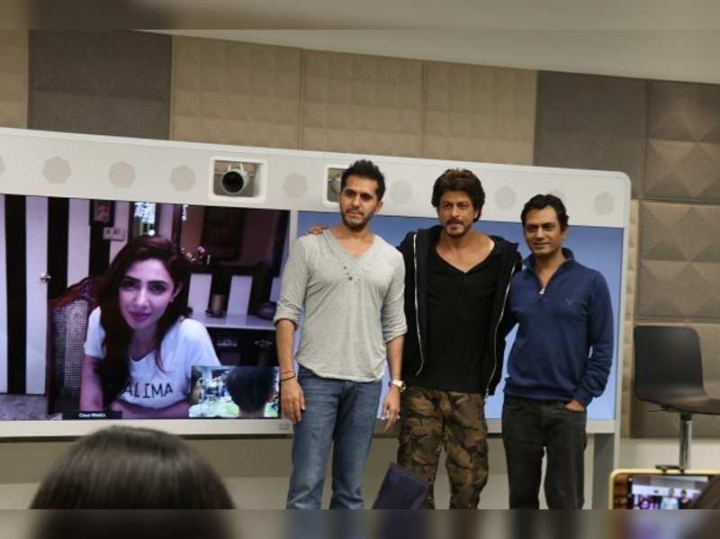Mahira Khan finally jumps on to the 'Raees' promotions bandwagon with Shah Rukh Khan and Nawazuddin Siddiqui